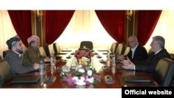 اجتماع لقادة احزاب المعارضة الكردية مع رئيس الاقليم مسعود بارزاني
