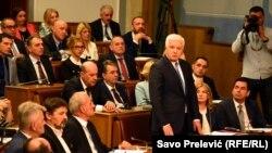 Gužva u crnogorskoj Skupštini