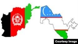 د افغانستان او ازبکستان نقشې او بیرغونه