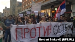 Protests in the northern Serbian city of Novi Sad on April 17