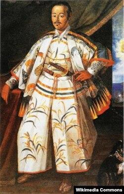 Samuray Hasekura Romada səfirdir. Fransız rəssamı Claude Deruet, 1615