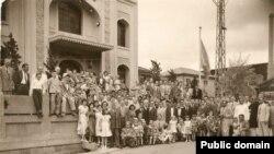 Кобедагы мәчет ачылышы. 1935 ел.
