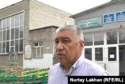 Аягөз аудандық оқу бөлімінің бастығы Нұрғали Әзімбаев.