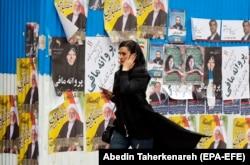 Уличная реклама участников избирательной кампании в Тегеране. Февраль 2020 года