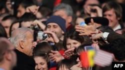 Vicepreședintele american Joe Biden la Chișinău, martie 2011.