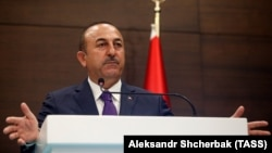 Turkish Foreign Minister Mevlut Cavusoglu disputed a U.S. readout of a meeting with Secretary of State Mike Pompeo.