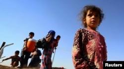 نازحون من الموصل في أحد المخيمات قرب أربيل