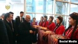 پذیرایی از رئیس جمهور غنی در ترکمنستان
