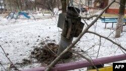 Краматорськ після обстрілу,10 лютого 2015 року