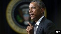 АҚШ президенті Барак Обама. Вашингтон, 16 сәуір 2015 жыл.
