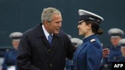 سفر روز دوشنبه جرج بوش به کشورهای اروپایی احتمالا آخرین سفر او در مقام ریاست جمهوری آمریکا به اروپا است.(عکس: AFP)