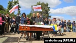 На пахаваньні Алеся Чаркашына ў Берасьці, 3 верасьня 2015 году