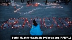 Акція до річниці депортації кримських татар «Запали вогник у своєму серці». Київ, 18 травня 2017 року