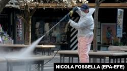 Санітарні заходи через поширення коронавірусу в Пандуї, Італія, 12 березня 2020 року