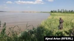 Река Амударья со стороны афганской провинции Кундуз