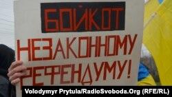 Referendumun boykotuna çağıran plakat