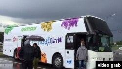 Гринписның автобус-күргәзмәсе Казанда