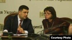 Наталія Яресько і Володимир Гройсман (архівне фото)