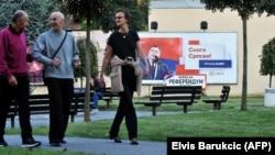 Milorad Dodik na plakatu, Banjaluka