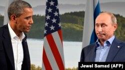 Президент США Барак Обама (л) і президент Росії Володимир Путін (п)