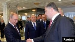 Русия һәм Украина президентлары Мински саммитында.