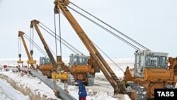 Қарашығанақ-Орал газ құбырының құрылысы. 10 наурыз 2009 жыл.