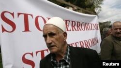 Архивска фотографија од протест во Косово против тероризмот.