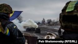 Украинские военные под Дебальцевым