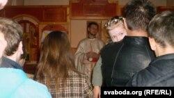 Падчас набажэнства айцец Васіль Ягораў