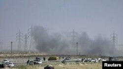 Погоден тенк на бунтовниците во градот Аџабија