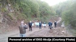 Protest zbog izgradnje malih hidroelektrana, dolina rijeke Bjelave kod Foče, 29 april 2020.