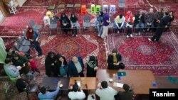 یکی از حوزه های رایگیری در شهر تبریز