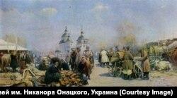 «Ярмарка в Полтаве», 1902, картина Сергея Васильковского