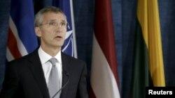 НАТО бас хатшысы Йенс Столтенберг. Вильнюс, Литва, 3 қыркүйек 2015 жыл.
