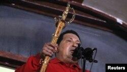 Уґо Чавеса під час промови до прихильників після оголошення його переможцем виборів, Каракас, 7 жовтня 2012 року