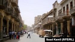 جانب من شارع الرشيد ببغداد