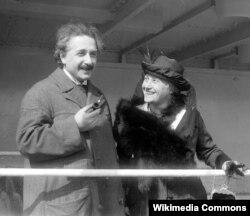 Albert Eýnsteýn we onuň ikinji aýaly Elsa Löwenthal