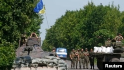 Блокпост на Донеччині біля міста Амвросіївки, 5 червня 2014 рік