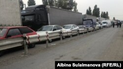 One Kyrgyz driver said his truck had moved 200 meters in three days.