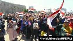 احتفال بإزاحة الرئيس السابق محمد مرسي