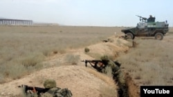 Азербайджанские военные во время учений. Иллюстративное фото.