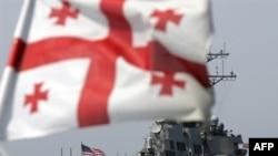 A U.S. naval vessel near the Georgian coast. The new charter would boost U.S. support for Georgian defense