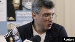 "Оьрсийчоь -- ""Галерашкахь къахьогучу лех"" лаьцна рапорт довзуьйтучу конференцехь къамел деш ву оппозицин лидер Немцов Борис, Москох, 28Мар2012"