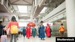 Оңтүстік Кореяның Инчхон қаласының әуежайы. 4 наурыз 2015 жыл.