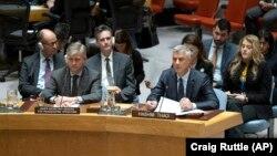 Kosovo Prezidenti Hashim Thaci BMT Təhlükəsizlik Şurasının iclasında