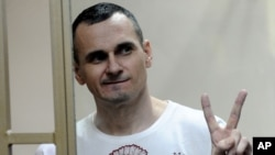 Ukrainian filmmaker Oleh Sentsov was has been imprisoned for four years. (file photo)