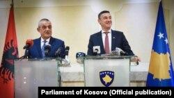 Predsednik albanskog parlamenta Gramoz Ruçi i Kadri Veseli, predsjednik kosovskog parlamenta