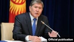 Қырғыз президенті Алмазбек Атамбаев. 29 желтоқсан 2011 жыл.
