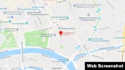 Московский офис Роскомнадзора на Google Maps