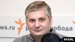 Սերգեյ Մարկեդոնովը «Ազատություն» ռադիոկայանի մոսկովյան ստուդիայում, արխիվային լուսանկար